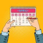 Pop Art Calendar white man hands 123RF