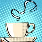 Pop Art Steaming Mug of Coffee e1537776392538