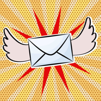 Pop Art Mail with Wings