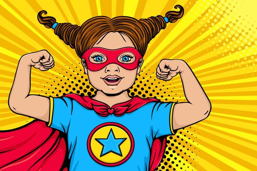 Pop Art Superhero kid