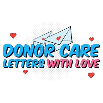 Donor Care Letters With Love Square